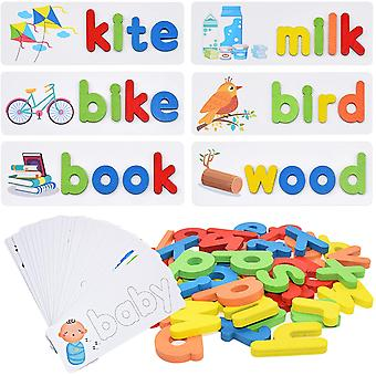 Abc Spelling Learning Matching Wooden Letter Puzzle Game