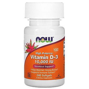 Now Foods, vitamina D-3 de alta potencia, 10.000 UI, 240 cápsulas blandas