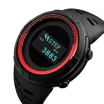 SKMEI 1360 البوصلة مقياس الحرارة العد التنازلي عداد الخطى السعرات الحرارية OLED ساعة رقمية