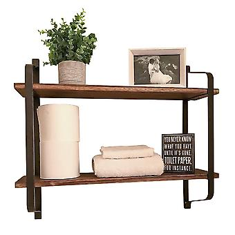 2 Tier Floating Wall Shelves