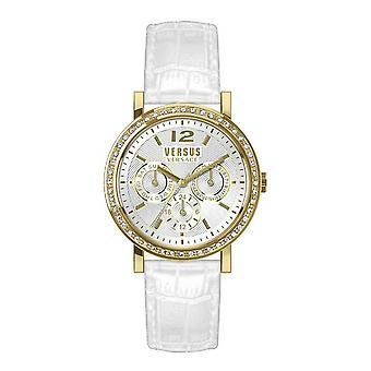 Versus by Versace Women's Watch Wristwatch Manhasset VSPOR2219 Leather
