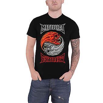 Metallica T Shirt Yin Yang Banda Logo novo Official Mens Black