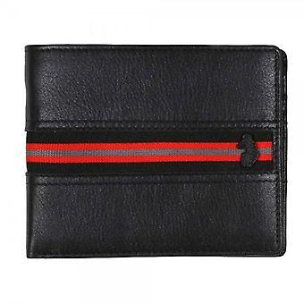 Luke 1977 Opulent Black Leather Bi-fold Wallet With Coin Pocket