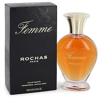 Femme Rochas Eau De Toilette Spray By Rochas 3.4 oz Eau De Toilette Spray