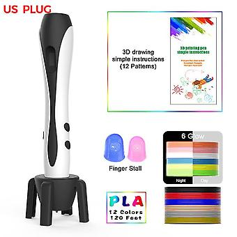3D pen pla filament 1.75mm 3d printing pen diy pens drawing pencil with led screen birthday educational gift for kids