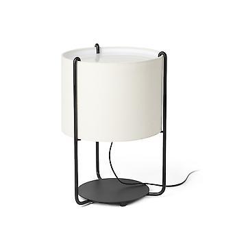 Lampada da tavolo Tamburo rotondo nero, E27