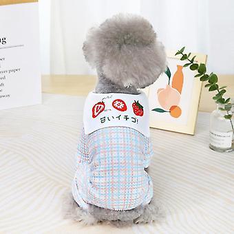 Sommer süße Erdbeere Muster Haustier Kleidung