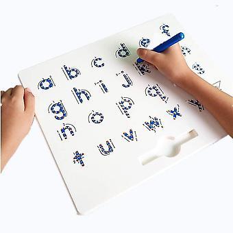 2-in-1 Magnetische Alphabet Letter Tracing Board - ABC Buchstaben Kinder Zeichenbrett mit Stylus