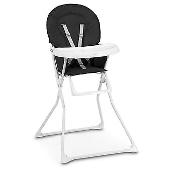 Kinder-Essstuhl verstellbar - 100cm hoch - Schwarz und Weiß