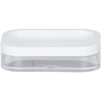 zeephouder Oria 3 x 7,5 cm acryl wit
