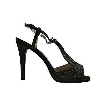 Caparros Womens Ohara Fabric Peep Toe Ankle Strap Classic Pumps