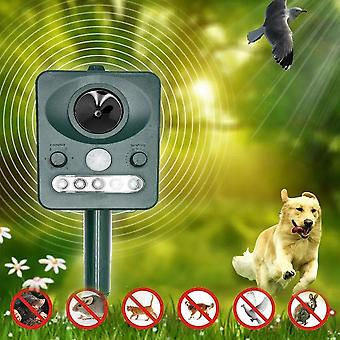 Repeller Outdoor With Led Flash Light Ultrasonic Dog Rats Repellent