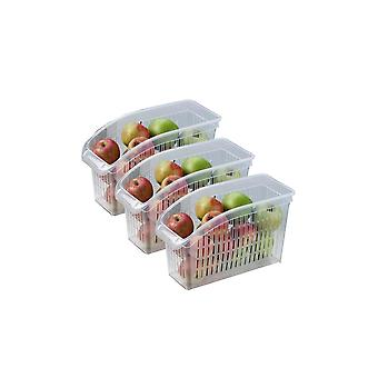 Kitchen Refrigerator Organizer Basket Container 5pcs Adjustable Storage Box