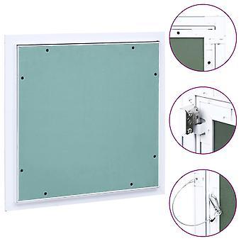 vidaXL volet de révision avec cadre en aluminium et plateau de plâtre 300x300 mm