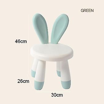 Sedia da pranzo coniglio cartone animato in plastica per bambini