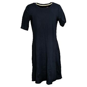 Isaac Mizrahi Live! Kleid Essentials Pima Baumwolle blau A351507