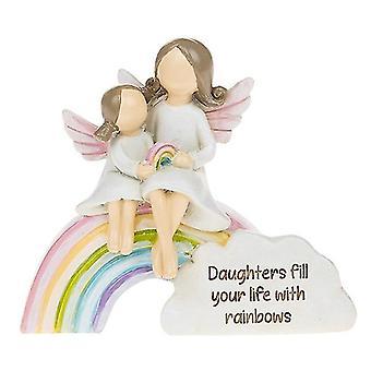 Ornamento figlia angeli arcobaleno