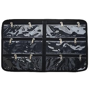 """Beadsmith tarranauhan lisäosa Crafterin laukkuun, 12 vetoketjullista taskua 17x11"""", musta"""