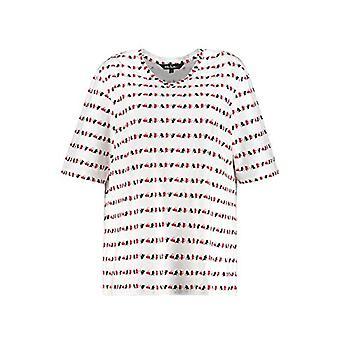 ULLA POPKEN Shirt Relaxed mit Herzstreifen Relaxed Shirt with A Heart Strip, White, 46+ Woman