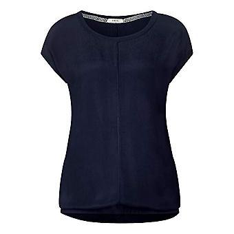 Cecil 313890 T-Shirt, Blue (Deep Blue 10128), X-Small Woman