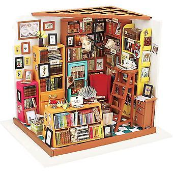 FengChun DIY Miniatur Puppenhaus Kits Bücher Store Holz Puppenhaus Modell kreative Geschenke für Kinder,