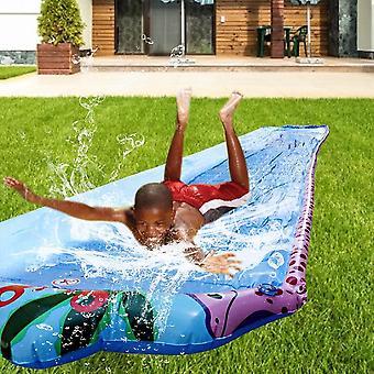 Children Double Surf Water Slide Outdoor Garden Racing Lawn Water Slide Spray