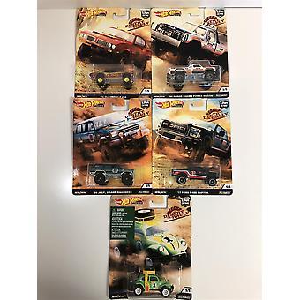 hot hjul ørken rally ekte ryttere sett med 5 fpy86
