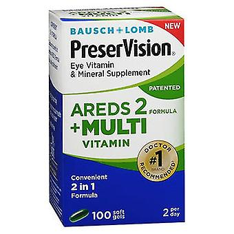 Bausch And Lomb Bausch + Lomb PreserVision Eye Vitamin & Mineral Supplement Softgels, 100 Tabs