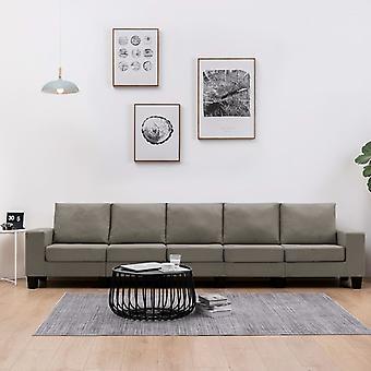 vidaXL 5-Sitzer-Sofa Taupe Stoff