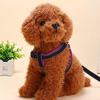 2db/ készlet Pet Dog Nylon Hám Kötél Kötél Walking Póráz Vontatási Öv Kötél
