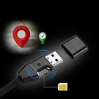 Intelligent tracker mini gps positioning usb wire fast charging data cable 1m - black