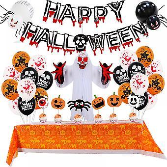 Lohill Happy Halloween Palloncini appeso Ghirlanda Stendardo Ragno rosso, Teschi, Porta zucca Appeso Party Decors Set
