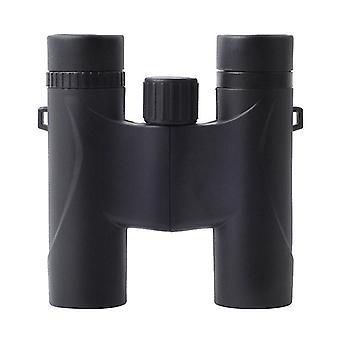 مناظير مدمجة، مناظير عالية الدقة 10X25 للبالغين والأطفال BAK4 Prism FMC Lens مقاوم للماء مع رؤية ليلية خفيفة منخفضة لمشاهدة الطيور، ومراقبة النجوم، والمشي لمسافات طويلة في الهواء الطلق، والسفر، والصيد، (أسود)