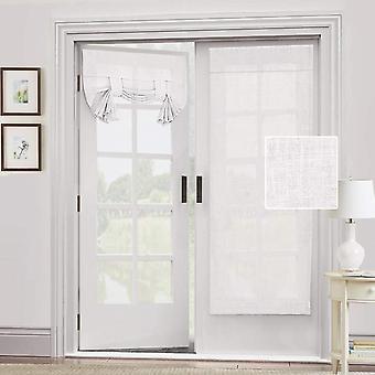Rideau de porte 2X linge naturel mélangé - intimité français porte rideau lumière filgtering tricia porte fenêtre rideau attacher l'ombre, blanc pur