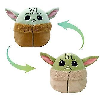 Pluche Toybaby Yoda Omkeerbare Plushie Speelgoed Dubbelzijdig Flip Pluche Speelgoed