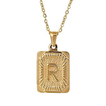 """925 Silve Initial Alphabate """"R""""Letter Necklace - 20 inch"""