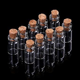 Mini Glass Wish Bottle Vial With Cork Stopper Storage Pendant