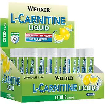 L-Carnitine Liquid, Peach - 20 x 25 ml.