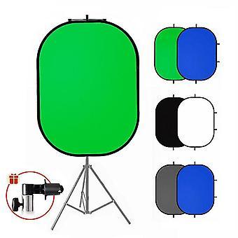 Cenário de fundo de tela verde do refletor de fotografia Chromakey