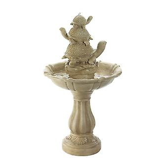 Cascading Fountains Turtle Trio Stone-Look Garden Fountain, Pack of 1