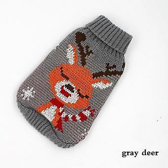 Weihnachten Katze Hund Pullover Pullover Winter Hund Kleidung für kleine Hunde Farbe Grau Hirsch