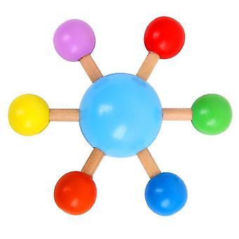 Fingertoppsglad snurrande topp, trä rolig fritid dekomprimering leksak (blå)