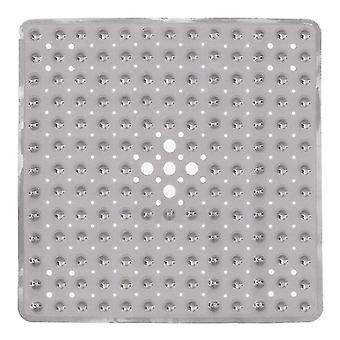 Safety Anti-slip Mat Bathtub Pad with Suction Cups for Bathroom Toilet(53*53cm)(Transparent Gray)