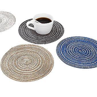 4 stuks ecor placemats voor tafel mat anti slip drink onderzetters pad (18cm)