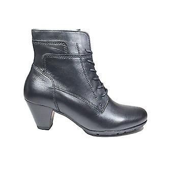 Gabor 644-27 Bottes de cheville pour femmes en cuir noir
