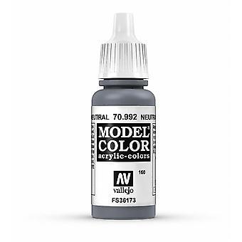 Vallejo Model Color 17ml Acrylic Paint - 992 Neutral Grey