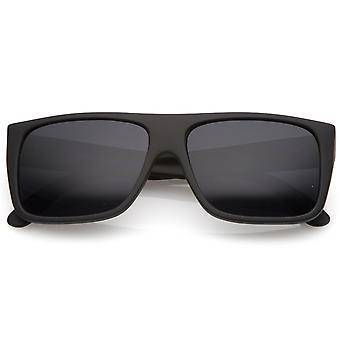 Männer die gummierte Flat Top Wide Tempelplatz Sonnenbrille 57mm