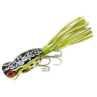 Arbogast Hula Popper 3/8 oz Fishing Lure - Cricket Frog