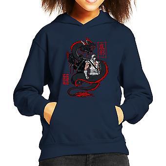 Arashikage Clan Storm Shadow slangogen GI Dragon Joe Kid's Hooded Sweatshirt