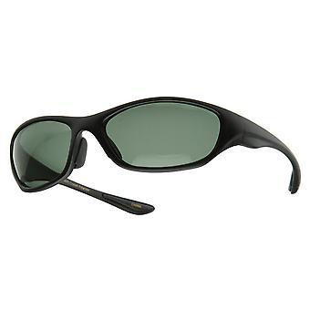 Dünne ovale polarisierte Sport Wrap Sonnenbrillen